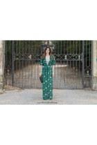 green shein dress