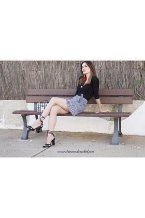black gingham ruffles sammydress skirt - black gingham print sammydress bag