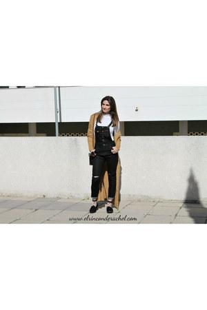 black overall jeans romwe romper