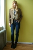 H&M via boyfriend shirt - vintage vest - vintage from stoop sale blazer - vintag
