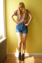 vintage via Ramona West on Etsy blouse - vintage shorts - via eBay boots