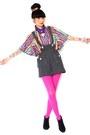 Black-vintage-from-ebay-boots-hot-pink-tights-black-vintage-shorts