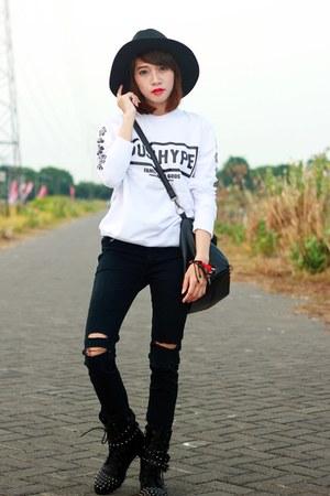 shopdaily sweatshirt - cotton sweatshirt - sammydress shoes - sammydress boots