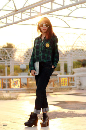 ColorBox shirt - Adorable Projectscom boots - ColorBox bag - Choies sunglasses