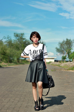 leather shoes - leather Sheinsidecom dress - Coco-fashioncom top
