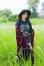 Choies-shirt-old-skirt-iron-maiden-t-shirt