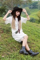 H&M boots - clastudio dress