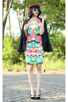 Mono and Lit blazer - hnm dress - ebaycom tie