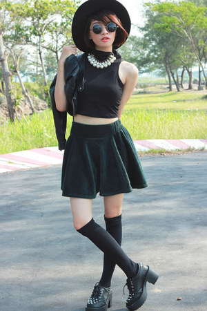 Choies skirt - Sheinside jacket - Choies top