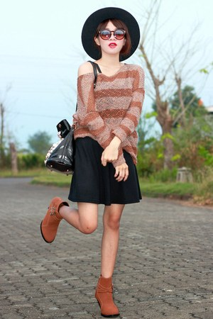 knitted old top - old skirt