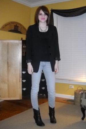 black H&M jacket - Bullhead jeans