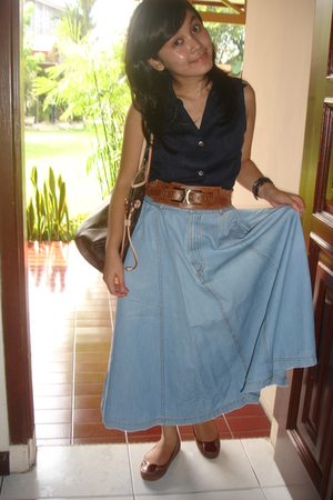 Zara shirt - belt - skirt - shoes