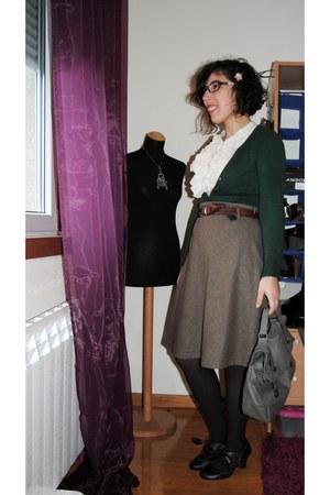 Massimo Dutti skirt - vintage belt