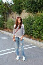 Gap jeans - Forever 21 bag - JCrew top - jack purcell sneakers