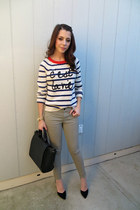 Zara bag - Forever 21 sweater - Gap pants - Zara heels