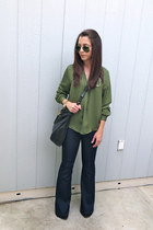 H&M top - Hudson jeans - Marc by Marc Jacobs bag - Charles David heels