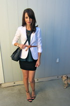 H&M blazer - Marc by Marc Jacobs bag - Zara blouse - JCrew belt - Zara heels