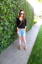 Zara bag - Gap shorts - Urban Outfitters top - Steve Madden wedges