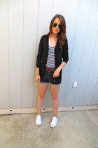 Forever 21 sweater - Urban Outfitters shorts - Forever 21 top