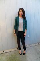 JCrew blouse - H&M blazer - H&M pants - Zara heels