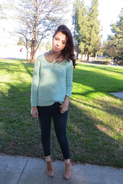 Old Navy sweater - Steve Madden boots - Forever 21 jeans - Forever 21 shirt