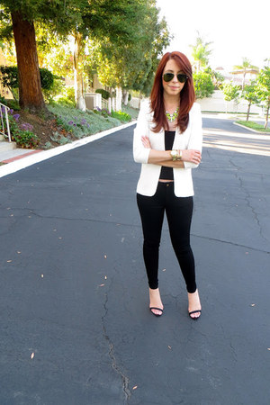 JCrew Factory necklace - Gap jeans - H&M blazer - Zara heels