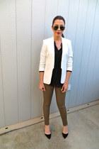Gap jeans - H&M blazer - Forever 21 blouse - Zara heels