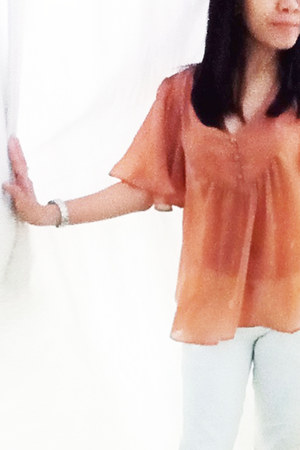 white citizens of humanity jeans - tawny H&M blouse