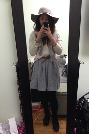 Esprit hat - Aritzia dress - T Babaton sweater - Prada flats