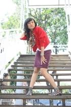 blazer - scarf - skirt