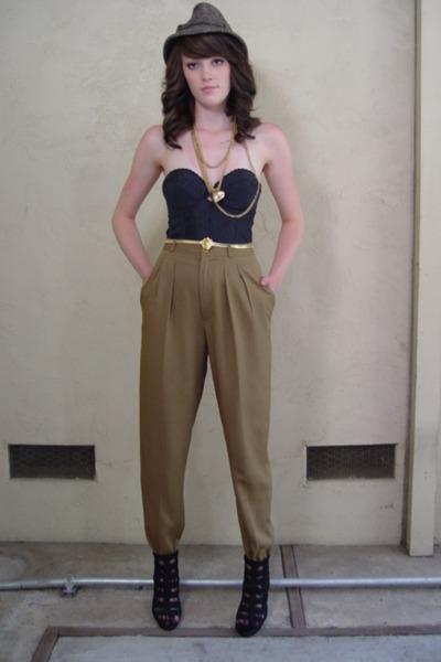 brown high waist pants
