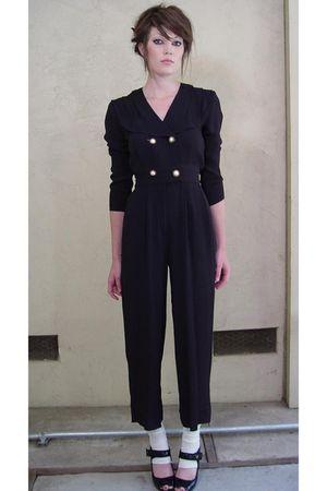 black vintage 80s pants