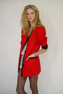 Red-casual-corner-blazer