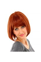 "RoKo Fashion 15"" Kanekalon Fashion Short Straight Hair Wig Orange"