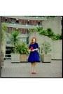 Vintage-dress-vintage-hat-h-m-bag-charlotte-russe-heels