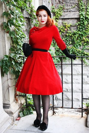 vintage dress - Chanel heels