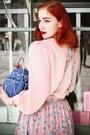 Blue-kate-spade-bag-pink-1940s-skirt