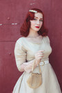 Silk-1950s-vintage-dress-dress-gloves-vintage-heels-heels