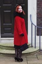 vintage coat - christian dior heels - vintage gloves