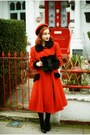 Red-moms-old-coat-coat-red-vintage-hat-from-beyond-retro-hat
