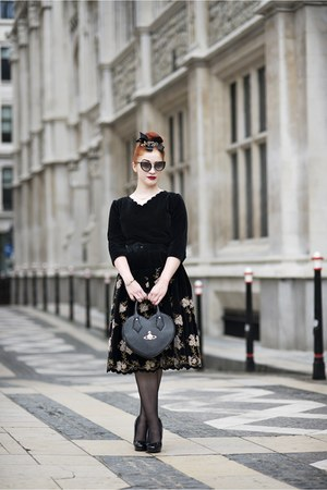 black 1950s from Relic dress - black vivienne westwood bag