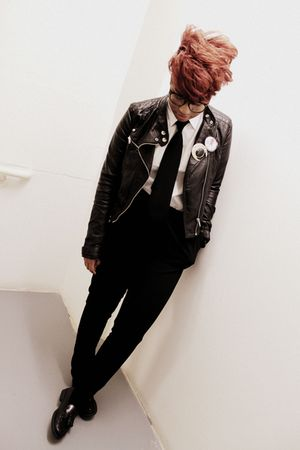 black H&M jacket - H&M pants