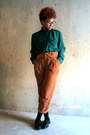 Teal-urban-outfitters-blouse-tawny-zara-pants