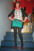 H&M shirt - Zara blazer - H&M skirt - Marc by Marc Jacobs shoes - ienna Miller b