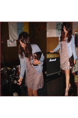 dress - jacket - purse - shoes