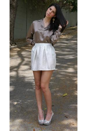 Zara skirt - Loft blouse - Enzo Angiolini pumps