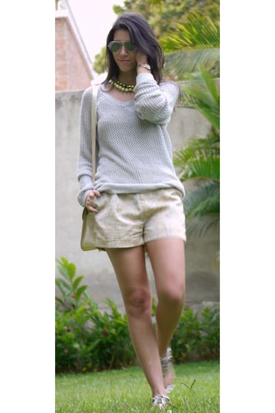 Bulova watch - hollister sweater - Joe & Mr Joe bag - Forever 21 shorts