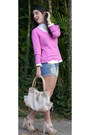 Ann-taylor-sweater-dkny-shirt-michael-kors-bag-stradivarius-shorts