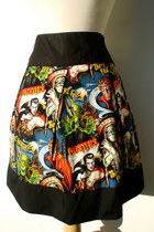 Horror Movie Hollywood Monsters Vintage Inspired Skirt
