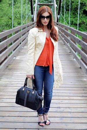 golden details A La Fois coat - pop-up Gas Jeans jeans - River Island bag